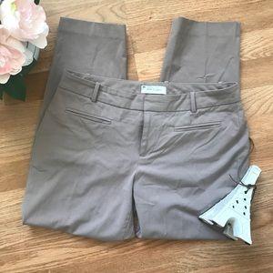 Gap slim cropped nude pink dress pants